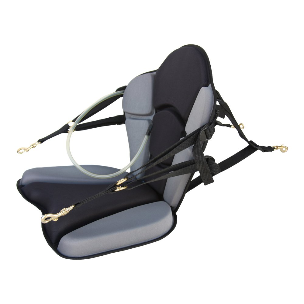 GTS Expedition Molded Foam Kayak Seat With Hydration Pack, Comfortable Padded Kayak Boat Seat Adjustable Back Support Kayak Seat Cushion