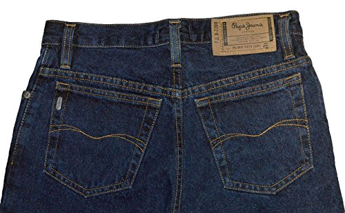PEPE Jeans London Collins M175 Regular Fit Zip Fly Jeans Hose dunkelblau