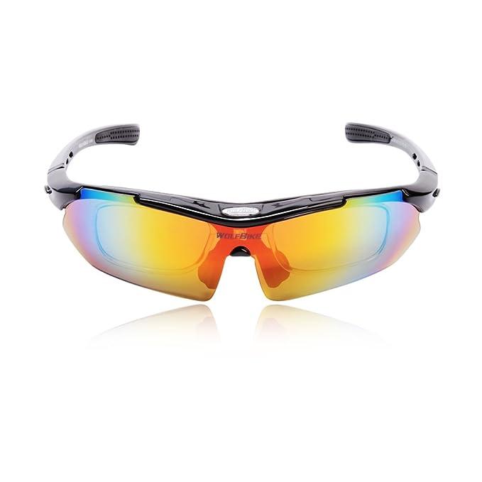 Nueva moda deporte hombres mujeres V400 polarizadas gafas de sol gafas gafas gafas 5 lente para Running conducción esquí ciclismo bicicleta Bike Riding, ...