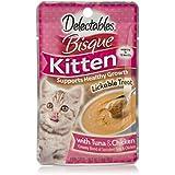 HARTZ Delectables Bisque Kitten Chicken & Tuna Treats, 1.4 oz - Pack of 12