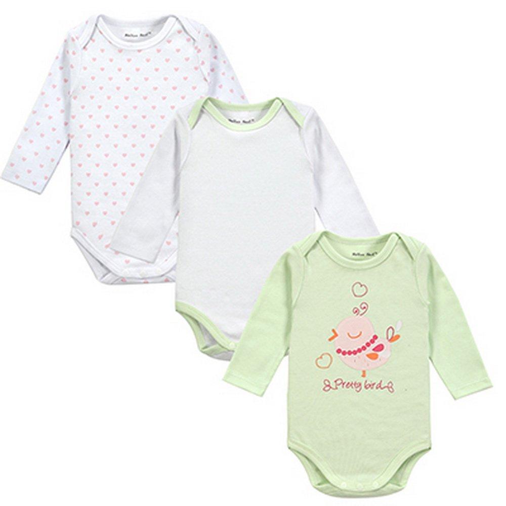 Amazon.com : Fantasia Infantil 3pieces/lot Baby Body 100% Cotton ...