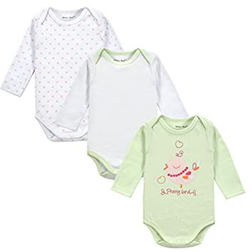 3645656c35d1f Amazon.com : Fantasia Infantil 3pieces/lot Baby Body 100% Cotton ...