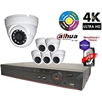 Dahua 4MP Tribrid Security Package: 8CH 4MP Tribrid DVR HCVR7108-4M (CVI AND IP and Analog ) w/2TB Security Hard Drive+(6) 4MP Outdoor HDW1400M 2.8mm Eyeball (NO LOGO Original Housing Local Support)