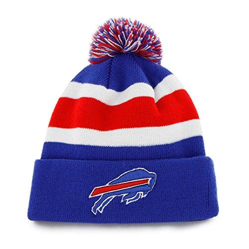 '47 Buffalo Bills Blue Cuff Breakaway Beanie Hat with Pom - NFL Cuffed Winter Knit Toque Cap (Buffalo Bills Hats Red)