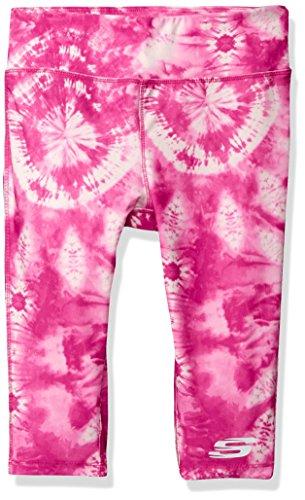 Skechers Big Girls' Sport Active Legging, Capri Pink Glow Tie Dye, -
