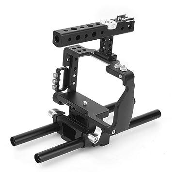 Vbestlife Camera Cage, C6 Cage Kit Estabilizador de Agarre con asa ...