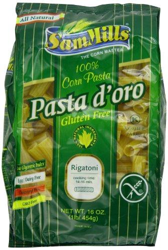Sam Mills Pasta D'Oro Gluten Free Rigatoni, 1-Pound (Pack of 6)