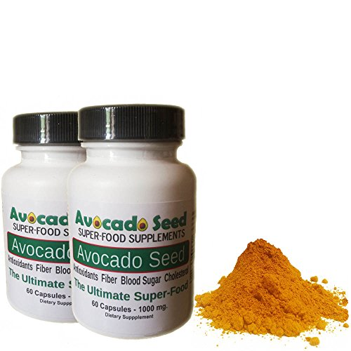 Avocado Seed Superfood Supplements - 120 Avocado Seed Powder Capsules (1000 mg) - Cutting Edge Natural Health Supplement, 100% Raw Food, Exclusive, Amazing Health Benefits - Blood Sugar Control, Cholesterol, Fiber, Elimination, Weight Loss and Much More!!