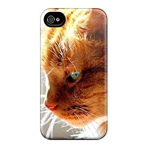 Hot Snap-on Golden Feline Hard Cover Case/ Protective Case For Iphone 4/4s