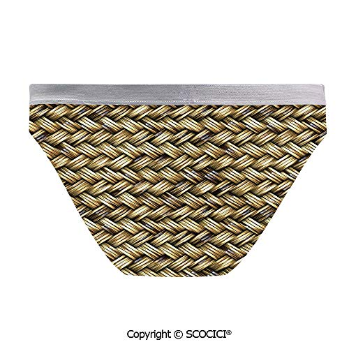 - SCOCICI Women Bikini Panties Rattan Basket Weave Great for Beach Activites