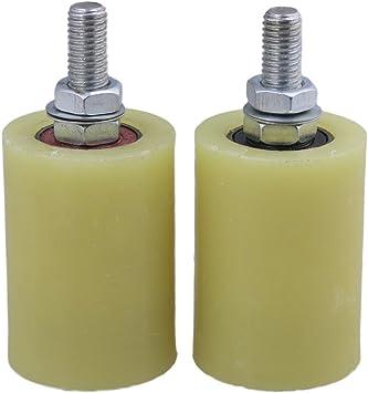 BQLZR amarillo plata PP Rueda de acero soporte de rodamiento de rodillo guía 6201 M10 Tornillo para eléctrico puerta corredera puerta Pack de 2, M4170626084: Amazon.es: Bricolaje y herramientas