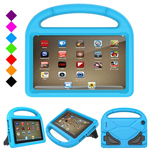 Click to buy Fire 7 2017 Kids Case, Fire 7 2015 case - Jautenier Light Weight Shock Proof Protection Handle Stand Kid-Proof Cover Case for All-New Amazon Fire 7 Tablet (7th 7th Gen, 2017/ 5th Gen, 2015) (Blue) - From only $18.99
