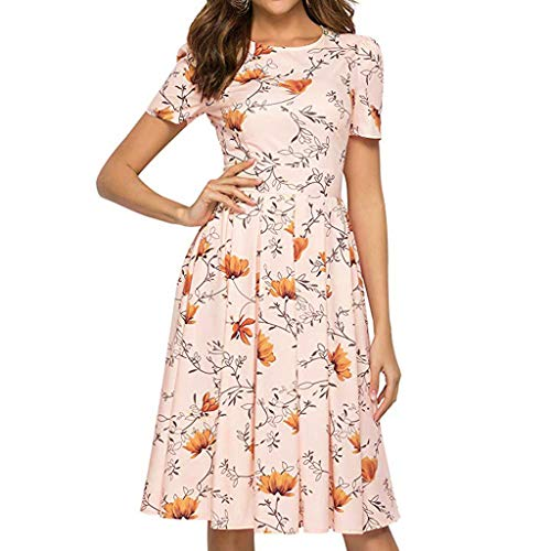 Women's Vintage Midi Dress Elegant Evening Floral Dress 3/4 Sleeves with - Light Maxi Console