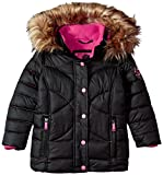 Weatherproof Big Girls' Outerwear Jacket (More Styles Available), Rainbow Stitch-WG149-Black, 10/12