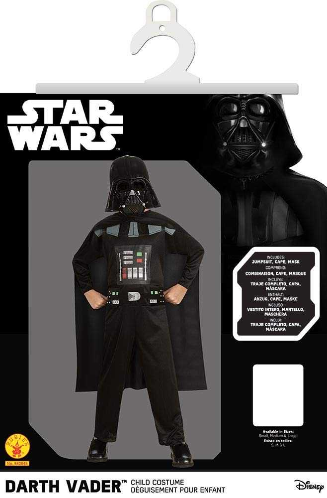 Rubies Costume Star Wars Episode 3 Childs Darth Vader Value Costume, Medium
