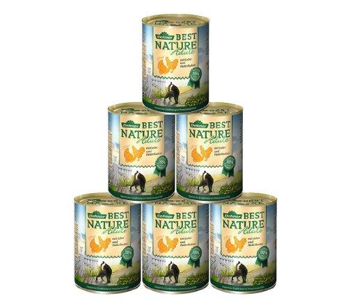 Dehner Best Nature Katzenfutter, Adult Geflügel und Leber, 6 x 400 g (2.4 kg)