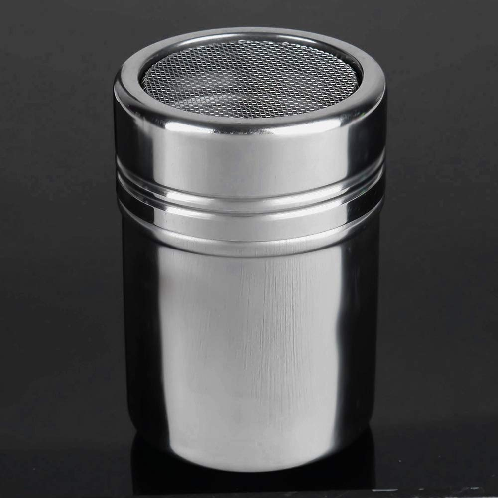 Portable Coffee Tea case Stainless Steel 304 Dusting Powder Condiment Tank Fine Mesh Barrel Cocoa Powder Household Kitchen Tools, Portable Coffee Tea case by Fanclplus
