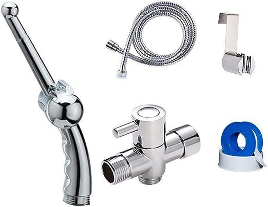 Niome Hand Held Bidet Sprayer For Toilet Rgonomic Handheld Bidet For Toilet Toilet Water Sprayer And Hose Set Amazon Ca Home Kitchen