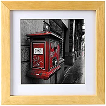 Amazon.com - 6x6 Ornate White Washed Wood Picture Square Frame - UV ...