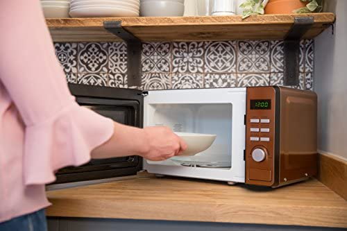 Russell Hobbs RHMD804CP Copper Digital Microwave, Steel/Plastic/Glass