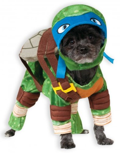 Party City Hot Dog Costumes (Rubies Costume Company Teenage Mutant Ninja Turtles Leonardo Pet Costume, Medium)
