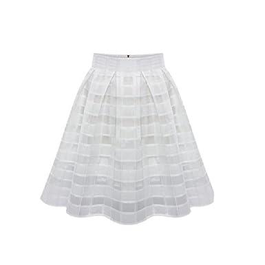 Jupe Courte Evasée (Taille S à XL) - Femme Jupes Organza Taille Haute  Vintage ca3601ce581d