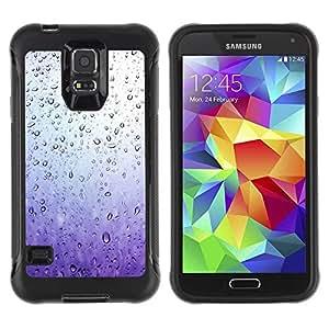 LASTONE PHONE CASE / Suave Silicona Caso Carcasa de Caucho Funda para Samsung Galaxy S5 SM-G900 / Rain Window Sad Purple