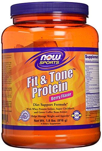 NOW Sports Fit & Tone Protein Berry Flavor Powder,1.8-Pound