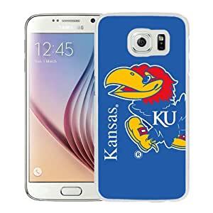 Fashionable Samsung Galaxy S6 Case ,Unique And Popular Designed Case With NCAA Big 12 Conference Big12 Football Kansas Jayhawks 5 White Samsung Galaxy S6 Great Quality Screen Case