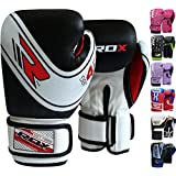RDX Maya Hide Leather 4oz, 6oz Kids Boxing Gloves Junior Punch Bag Children MMA Training Muay Thai Mitts