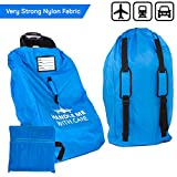 Car Seat Travel Bag Airplane | Gate Check in for Air Travel – Waterproof - 600D Nylon Fabric W/Adjustable Strap (Blue)