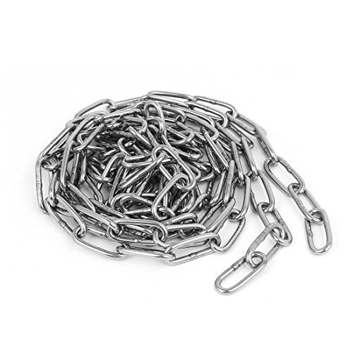 uxcell Pet Dog Training Clothes Hanging 304 Stainless Steel Coil Chain Silver Tone M3x8.2Ft by uxcell