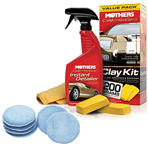 Mothers Complete California Gold Clay Bar System & Viking Microfiber Wax Applicator