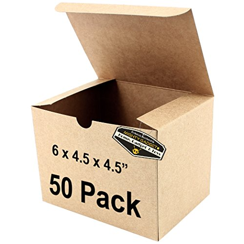 50 x Mighty Gadget (R) Kraft Party Favor Boxes - 6 x 4.5 x 4.5