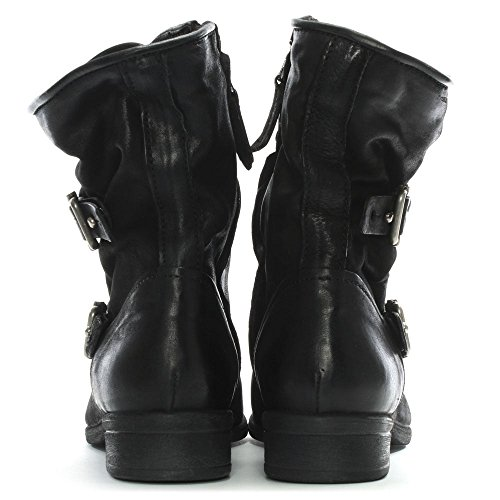 Daniel Leather Boots Leather Black Biker Black Manta Yar1xY