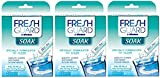 Fresh Guard by Efferdent Soak Crystals | 24 ct | Pack of 3 | Cleans Mouth Guards | Retainers | Clear Braces (Pack of 6)