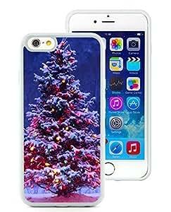 Custom Design Case Cover For SamSung Galaxy S6 Christmas Tree White Hard Case 18