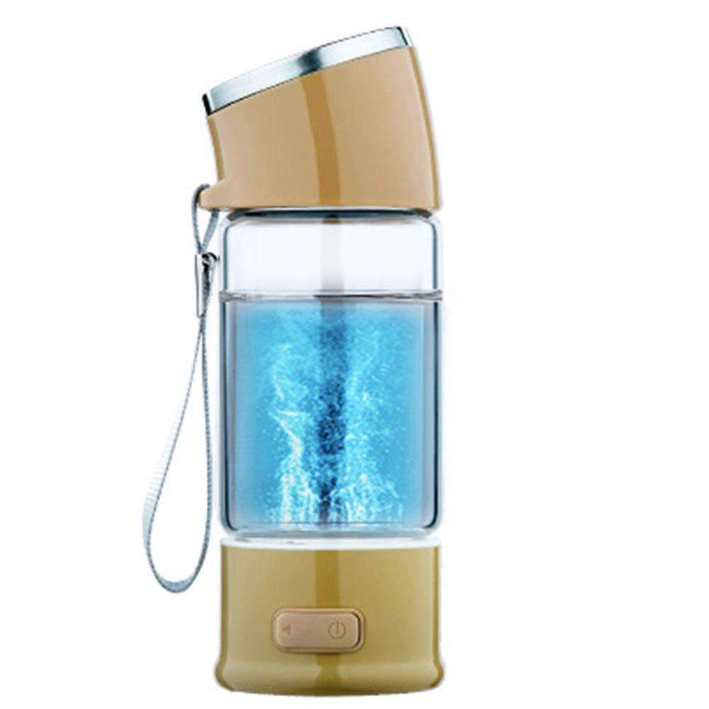 Bouteille riche en hydrogène eau Portable avec un couvercle de tasse Rechargeable Haute concentration Générateur d'hydrogène en 3 minutes Anti âge 300 ml,Black