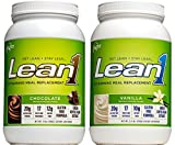 Nutrition 53 Lean1 Vanilla and Chocolate Set, Lactose Free Protein Powder, 23 Serving Per Tub- 2.6 lbs and 3 lbs For Sale