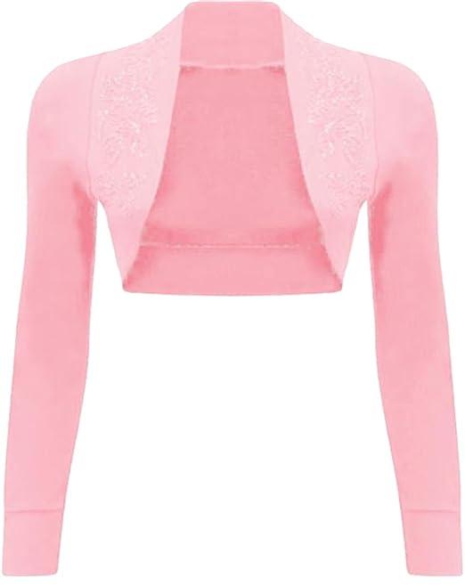 New Womens Short Sleeve Sequin Beaded Bolero Shrug Cardigan Top