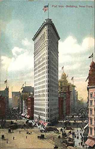 (Flat Iron Building New York, New York Original Vintage Postcard)