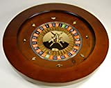New MTN-G 18'' Solid Wood Roulette Wheel Las Vegas Casino Professional Style w Rake & Ball