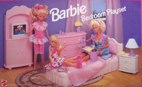 Amazon.com: Barbie Bedroom Playset (1993 Arcotoys, Mattel): Toys ...