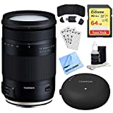 Tamron 18-400mm f/3.5-6.3 Di II VC HLD All-In-One Zoom Lens for Canon (AFB028C-700) + Accessory Bundle Includes, Tamron TAP-In Console Lens Accessory, 64GB SDXC Memory Card & More