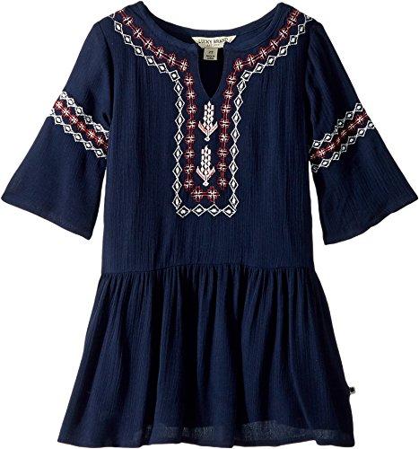 Lucky Brand Girls' Toddler Dress, Ellie Black Iris, 3T by Lucky Brand