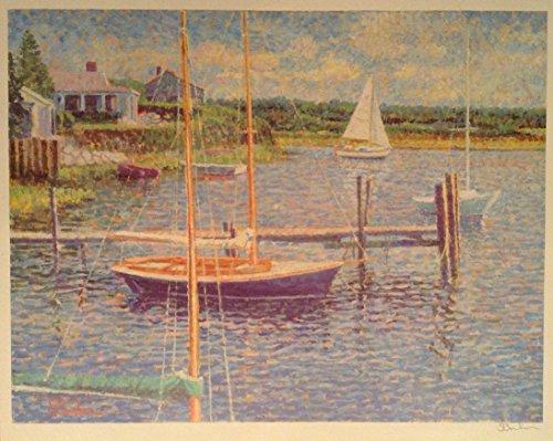 Sam Barber Studio of Fine Arts New England Shore Limited Edition Signed Art Print, 16