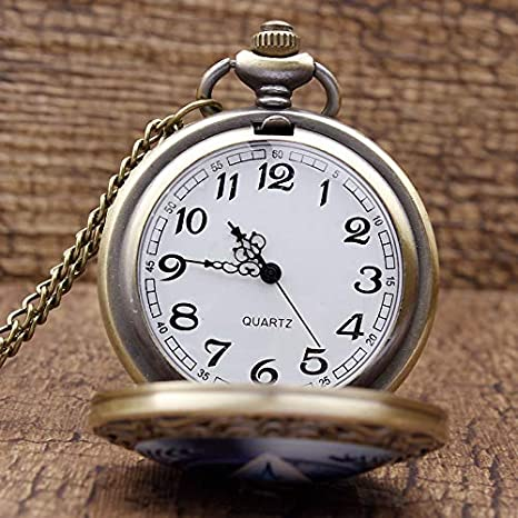 Amazon.com: CHITOP Star Trek Theme Steampunk Vintage Quartz Pocket Unique Fashion Men ES Necklace Chain reloj de bolsillo: Cell Phones & Accessories