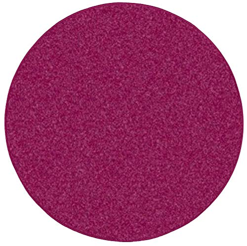 Bright House Solid Color Area Rugs Cranberry - 3' - Rug Cranberry Round