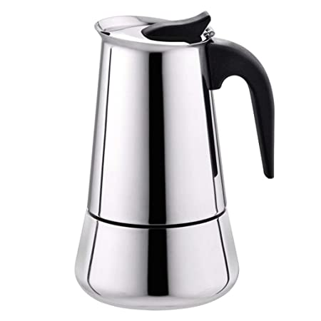 Kitchen Tools - Cafetera de acero inoxidable con fondo ancho para ...