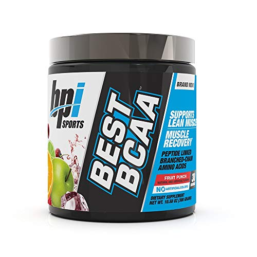 Best BPI Sports Best BCAA - BCAA Powder - Branched Chain Amino Acids - Muscle Recovery - Muscle Protein Synthesis - Lean Muscle - Improved Performance - Hydration - Fruit Punch - 30 Servings - 10.58 oz.